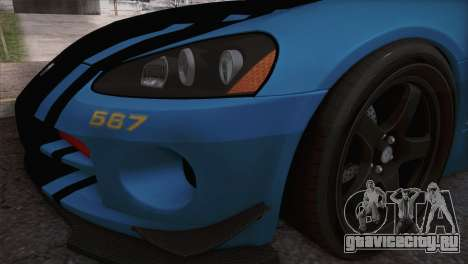 Dodge Viper SRT 10 ACR Police Car для GTA San Andreas вид справа
