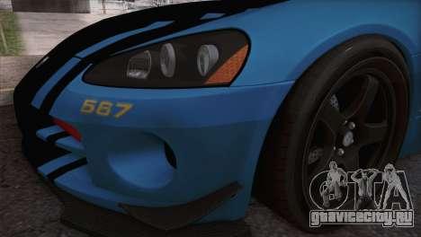 Dodge Viper SRT 10 ACR Police Car для GTA San Andreas вид справа