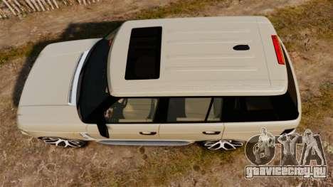 Range Rover Supercharger 2008 для GTA 4 вид справа