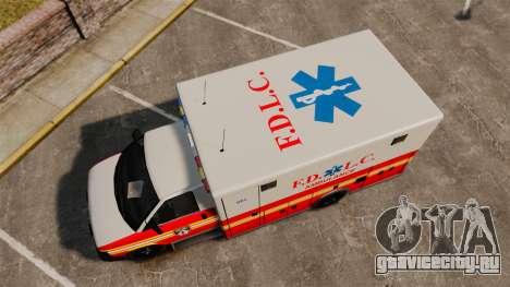 Brute Speedo FDLC Ambulance [ELS] для GTA 4 вид справа