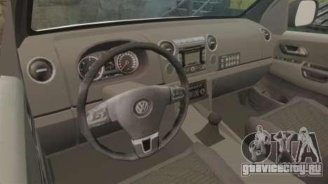 Volkswagen Amarok 2012 SAPS [ELS] для GTA 4 вид изнутри