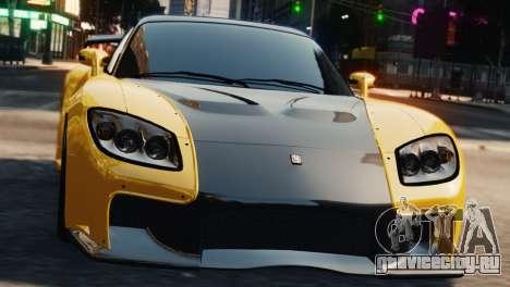 Mazda RX7 Veilside V8 для GTA 4 вид сзади