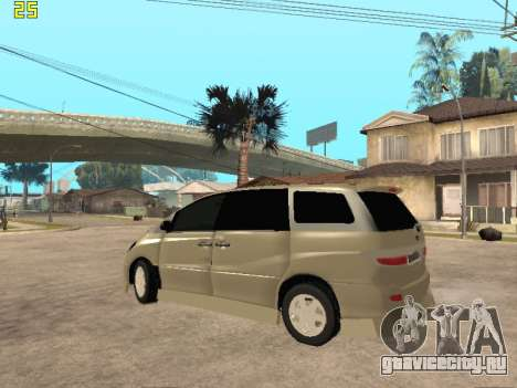 Toyota Estima Altemiss 2wd для GTA San Andreas вид сзади слева