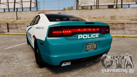 Dodge Charger 2013 Patrol Supervisor [ELS] для GTA 4 вид сзади слева