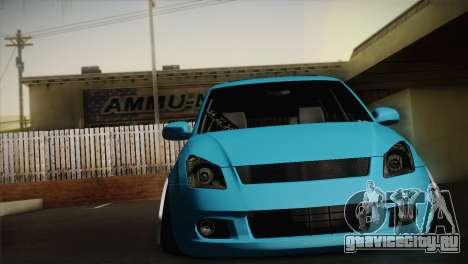 Suzuki Swift Hellaflush для GTA San Andreas вид слева