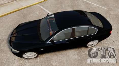 BMW M5 F10 2012 Unmarked Police [ELS] для GTA 4 вид справа