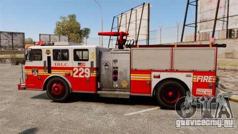 Fire Truck v1.4A FDLC [ELS] для GTA 4 вид слева