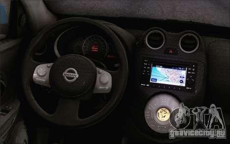 Nissan March для GTA San Andreas вид сзади