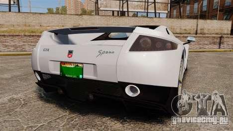 GTA Spano для GTA 4 вид сзади слева