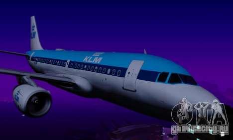 Airbus A319 KLM для GTA San Andreas вид сзади