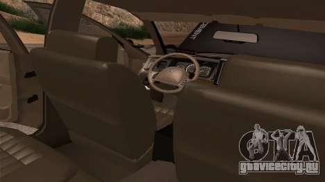 Ford Crown Victoria Police Interceptor для GTA San Andreas вид снизу