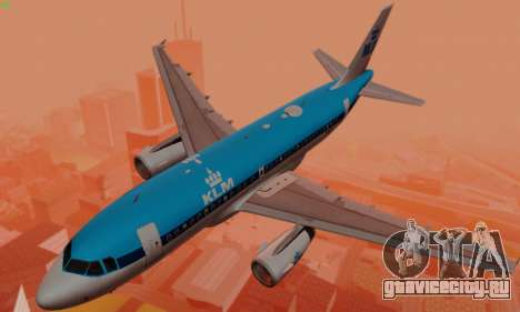 Airbus A319 KLM для GTA San Andreas двигатель