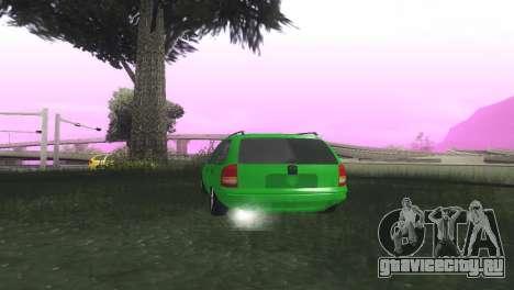 Chevrolet Corsa Wagon для GTA San Andreas вид сзади слева