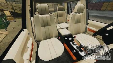Range Rover Supercharger 2008 для GTA 4 вид сбоку