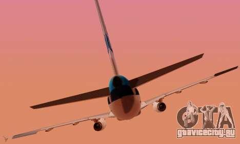 Airbus A319 KLM для GTA San Andreas салон