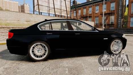 BMW M5 F10 2012 Unmarked Police [ELS] для GTA 4 вид слева