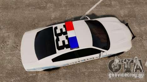 Dodge Charger 2013 Liberty Police [ELS] для GTA 4 вид справа