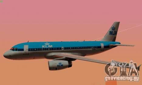 Airbus A319 KLM для GTA San Andreas колёса