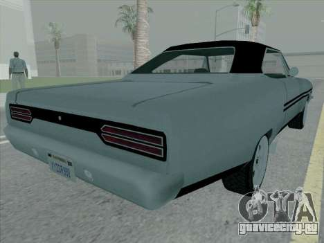 Plymouth Road RunneR GTX 1970 для GTA San Andreas вид сзади слева