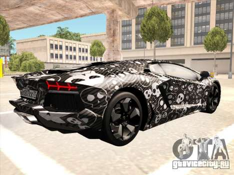Lamborghini Aventador LP700-4 2013 для GTA San Andreas вид справа