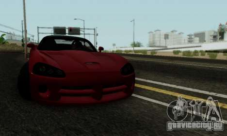 Dodge Viper SRT-10 для GTA San Andreas вид сбоку