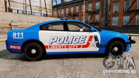 Dodge Charger 2013 LCPD [ELS] для GTA 4 вид слева