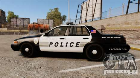 Ford Crown Victoria LCPD [ELS] для GTA 4 вид слева