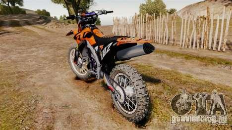Kawasaki KX250F (KTM) для GTA 4 вид справа