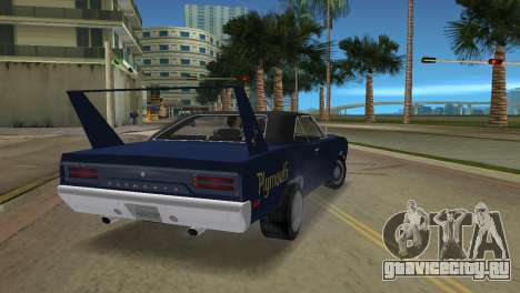 Plymouth Superbird для GTA Vice City вид слева