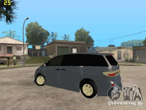 Toyota Estima Altemiss 2wd для GTA San Andreas вид сбоку