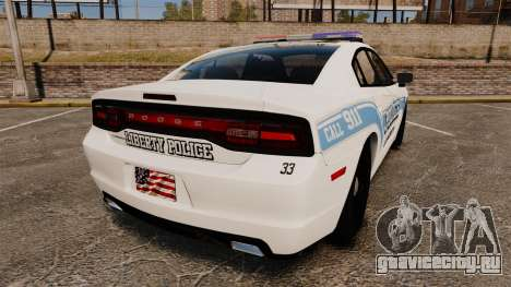 Dodge Charger 2013 Liberty Police [ELS] для GTA 4 вид сзади слева