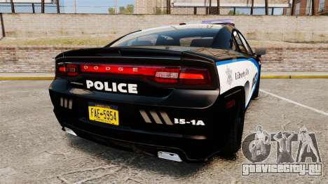 Dodge Charger 2013 Liberty City Police [ELS] для GTA 4 вид сзади слева