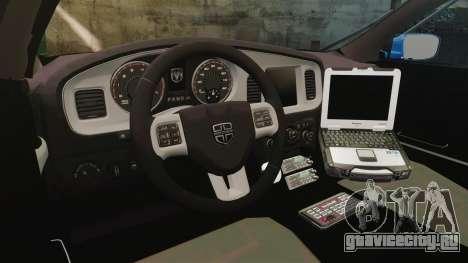 Dodge Charger 2013 Liberty County Police [ELS] для GTA 4 вид сзади