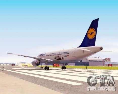 Airbus A320-200 Lufthansa для GTA San Andreas вид изнутри