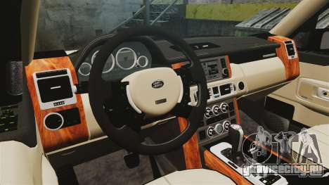 Range Rover Supercharger 2008 для GTA 4 вид изнутри