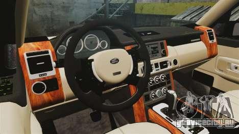 Range Rover Supercharger 2008 для GTA 4 вид изнутри