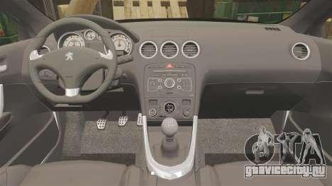 Peugeot 308 GTi 2011 Guardia Civil для GTA 4 вид сбоку