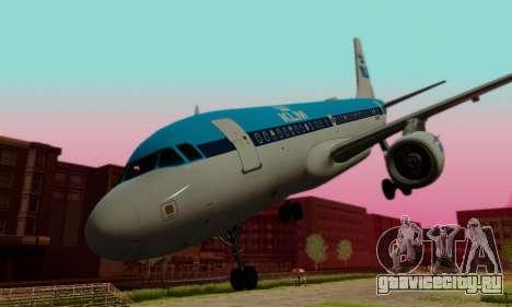 Airbus A319 KLM для GTA San Andreas вид сбоку