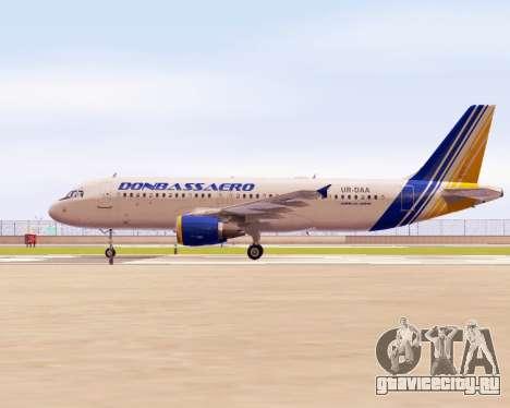 Airbus A320-200 Донбассаэро для GTA San Andreas вид слева
