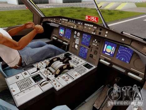 Airbus A340-600F DHL Buffalo для GTA San Andreas салон