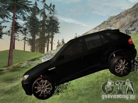 BMW X5M E70 2010 для GTA San Andreas вид сверху