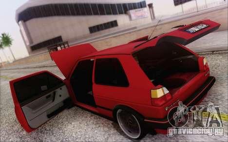 Volkswagen Golf Mk 2 для GTA San Andreas вид сбоку