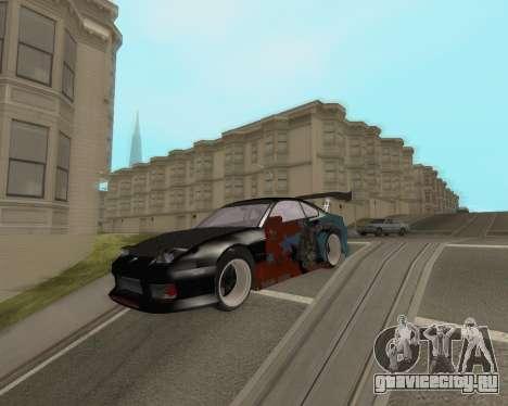 Nissan 150sx Evil Empire для GTA San Andreas вид сзади слева