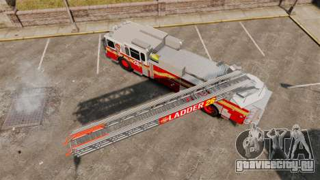 Ferrara 100 Aerial Ladder FDNY [working ladder] для GTA 4 вид справа