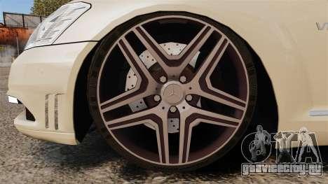 Mercedes-Benz S65 (W221) AMG для GTA 4 вид сзади