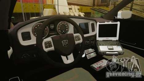 Dodge Charger 2013 Liberty Police [ELS] для GTA 4 вид сзади