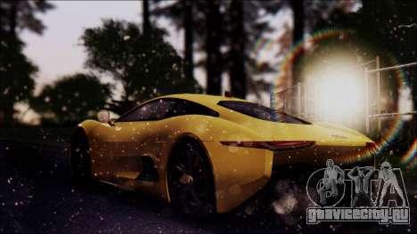 Jaguar C-X75 для GTA San Andreas вид слева