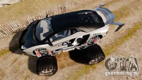 Lamborghini Aventador LP700-4 [Monster truck] для GTA 4 вид справа