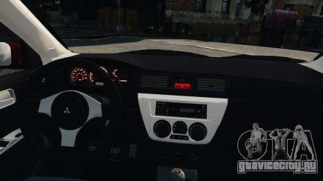 Mitsubishi Lancer Evolution IX для GTA 4 вид справа