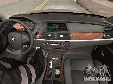 BMW X5M E70 2010 для GTA San Andreas салон